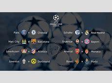 Fixture y Calendario de los Octavos de Final de la UEFA