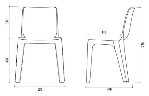 technique de la chaise chaise monobloc en plastique de collectivité chaise