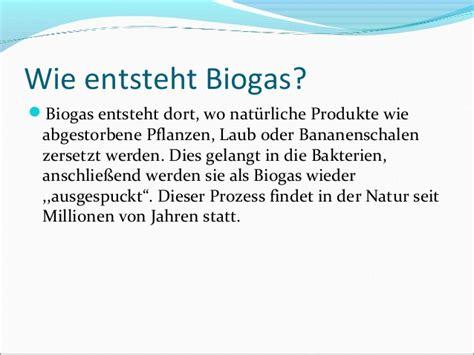 Wie Entsteht Biogas die biogasanlage chemie