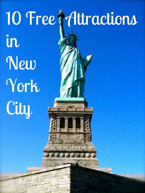 Ten Free Attractions In New York City  Favorite Places