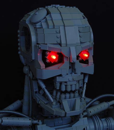 lego bust   terminator recreated   lego