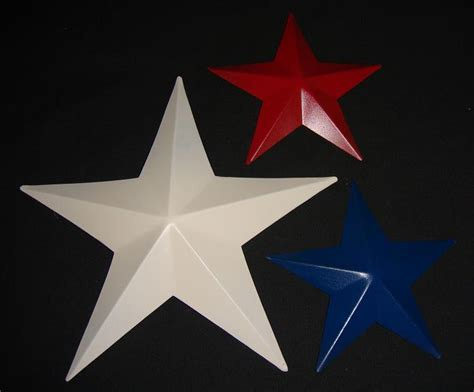 5 Inch Pressed Painted Barn Star