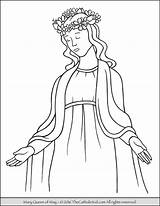 Mary Coloring Crowning Catholic Pages Queen Mother Clipart Jesus Virgin Children Holy Kid Printable Crafts Heaven Religion Sheets Rosary Thecatholickid sketch template