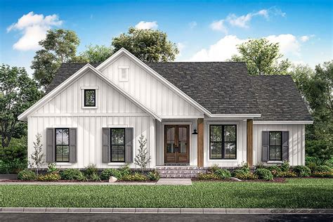Traditional Style House Plan 51997 with 1398 Sq Ft 3 Bed