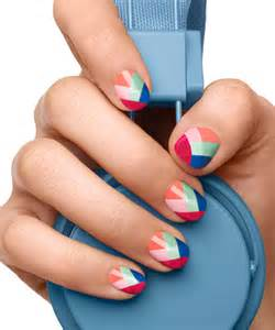 Wraps spring colorblock nail art design essie polish looks