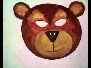 Masque Halloween A Fabriquer : masque d 39 ours fabriquer masque de carnaval d 39 ours en ~ Melissatoandfro.com Idées de Décoration
