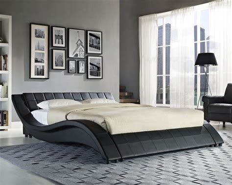 Double King Size Black White Bed Frame And With Memory