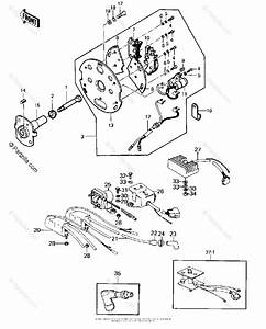 Kawasaki Motorcycle 1977 Oem Parts Diagram For Ignition