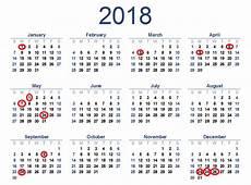 календар 2018 почивни дни Download Free Printable