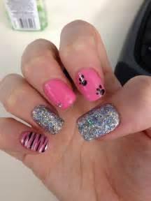 Pink and Black Nail Art Designs