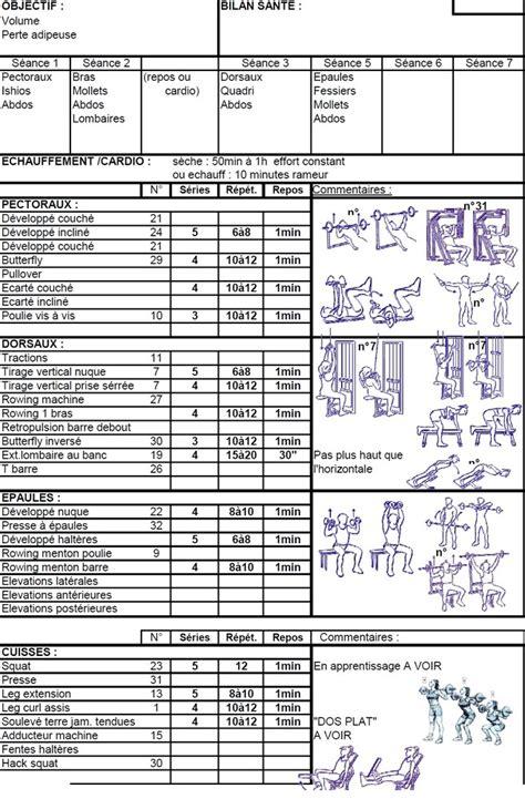 programme entrainement tapis de course perte de poids 28 images exercice combin 233 sur