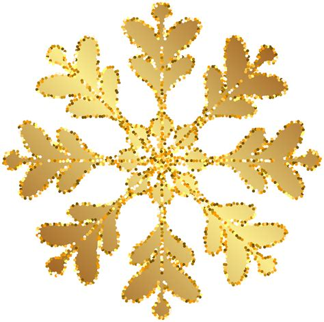 gold snowflake transparent clip image gallery