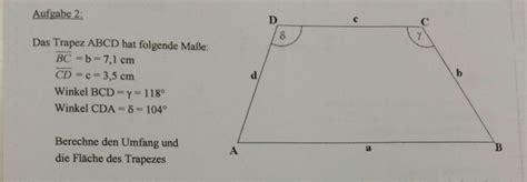 trigonometrie trapez und rechtwinkliges viereck