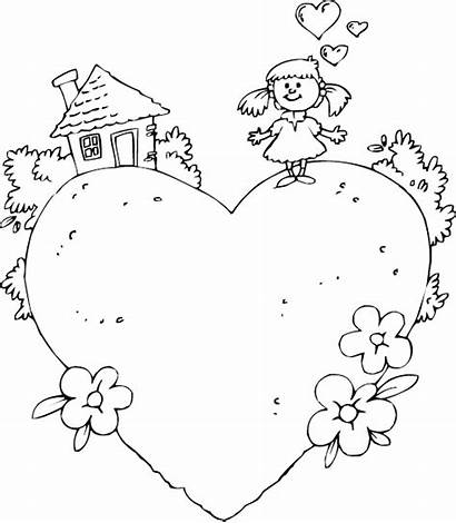 Coloring Heart Pages Colouring Welcome Clipart Banners
