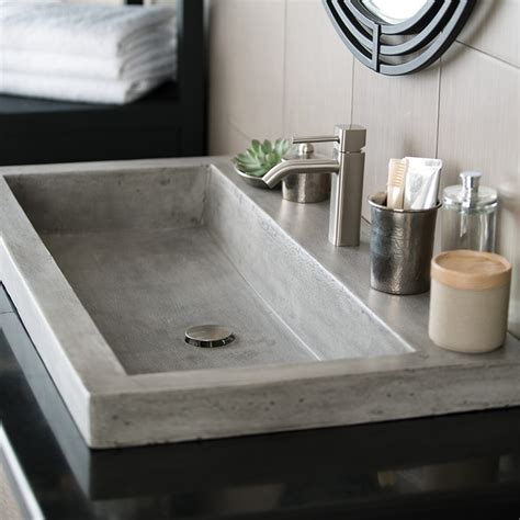 sinks for bathrooms trough 3619 nativestone rectangular bathroom sink