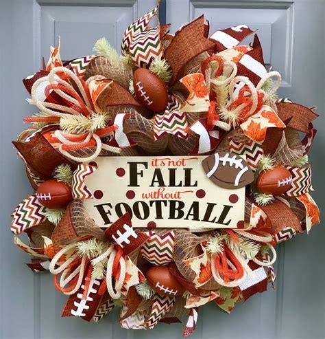 best 25 football team wreaths ideas on - Football Wreath Decorations