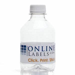 8 oz water bottle label onlinelabelscom With 8 oz water bottle labels