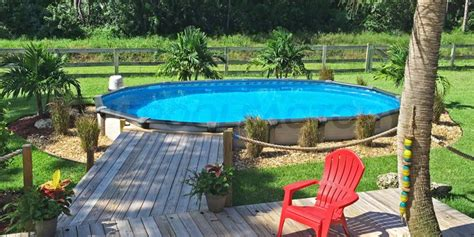 Partial Inground Pool With Deck