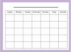Monday Through Friday 2017 Calendar 2018 Calendar Printable