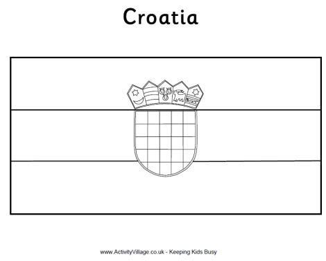 croatia flag colouring page