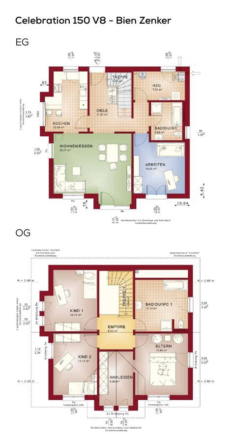 Grundriss Haus 150 Qm by Einfamilienhaus Grundriss Mit Galerie Satteldach