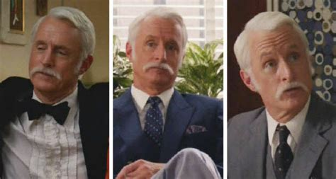 was roger sterling s mad men mustache real or fake