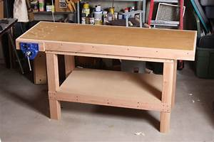 A Basic Woodworking Bench That's Quick To Make