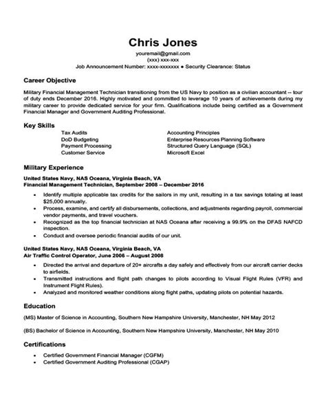 To Civilian Resume Template by Career Situation Resume Templates Resume Companion