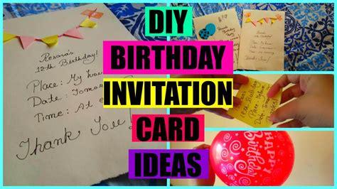 DIY BIRTHDAY INVITATION CARD 💜 YouTube