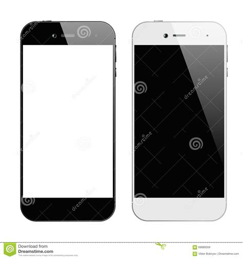 smartphone black and white smartphones black white stock vector image 69889359