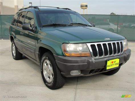 jeep cherokee green 2000 2000 shale green metallic jeep grand cherokee laredo