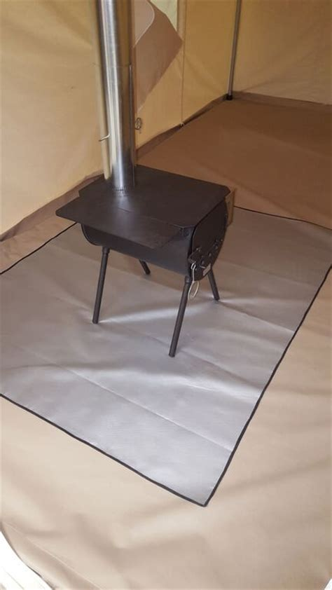 wood stove floor protection material c stove mat denver tent company event sportsmen