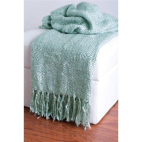 light blue throw blanket light blue loom woven throw by rizz ubu