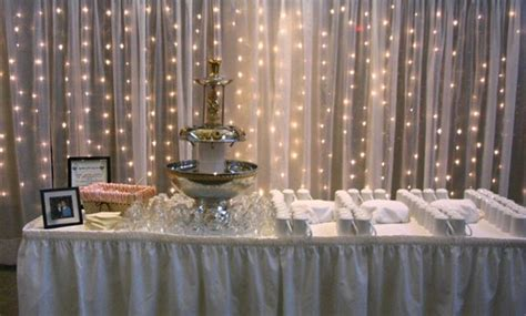 tulle and lights wedding decor ideas of bridal shower decorating with tulle weddingelation