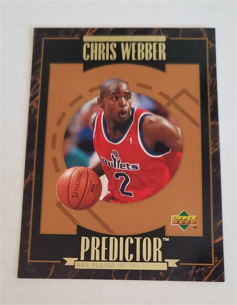 Maybe you would like to learn more about one of these? Chris Webber 1995-96 Upper Deck Predictor Player Of The Month Insert Card