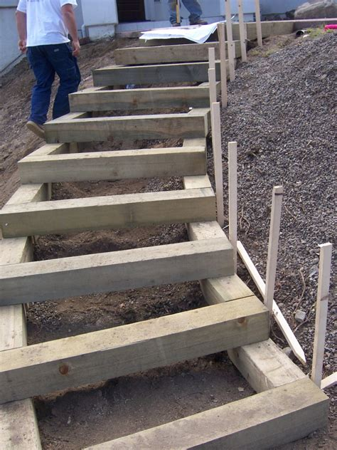 minute gardener photo landscape timber stairs