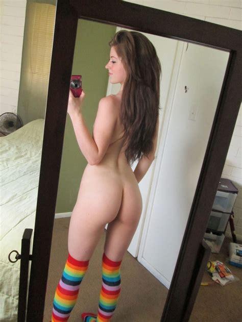Cute Girl In Rainbow Socks Porno Pics