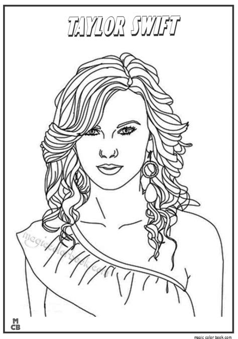 taylor swift coloring pages  getcoloringscom