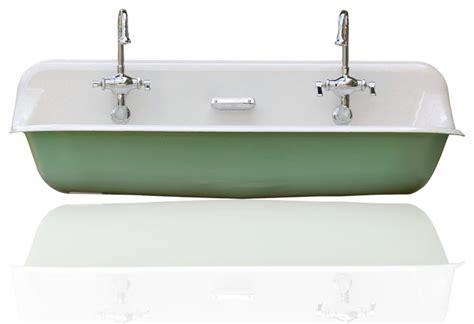 kohler trough large 48 quot kohler farm sink cast iron porcelain trough sink
