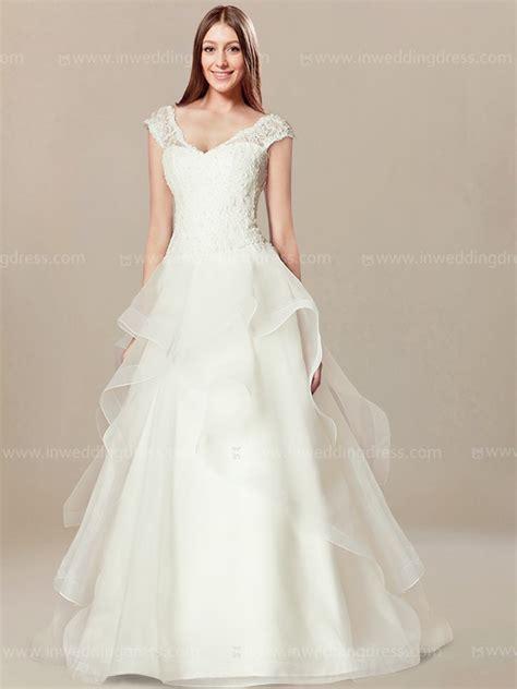 unique wedding dress  cap sleeves