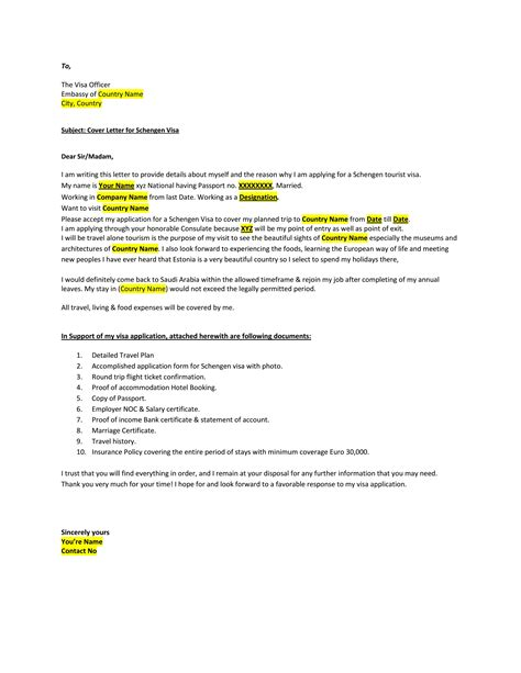 Covering Letter For Visa by 013 Travel Plan Template For Schengen Visa Personal