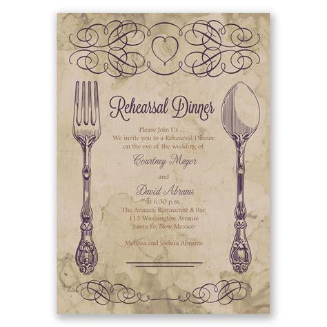 elegant dining rehearsal dinner invitation invitations