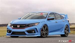 Honda Civic R : 2017 honda civic type r looks ready to summon satan in latest renderings has muffler bypass ~ Medecine-chirurgie-esthetiques.com Avis de Voitures