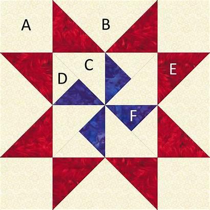 Martha Washington Star Quilt Block Around Pattern