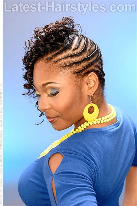 Black Hairstyles With Twists In The Front by Flat Twist Hairstyles Styled Flat Twists