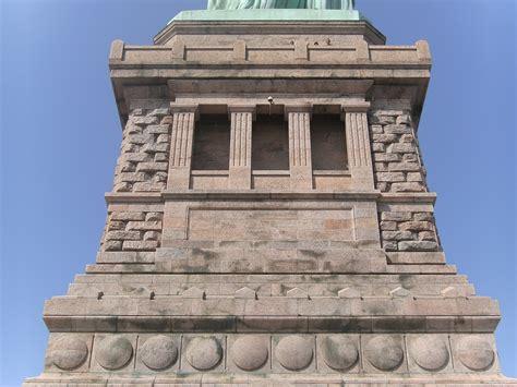 statue of liberty pedestal photo gallery u s national park service