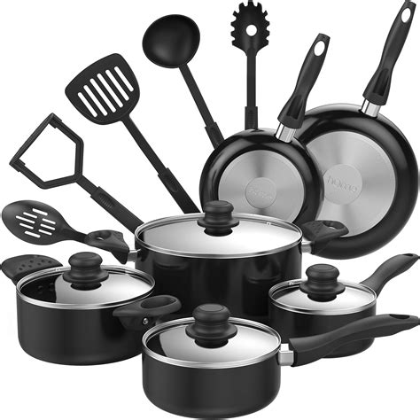 Kitchen Basics Pots And Pans by Homelabs 15 Nonstick Cookware Set Kitchen Pots And