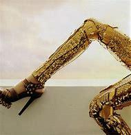 Balenciaga Gold Leggings