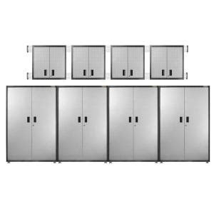 gladiator storage cabinets home depot gladiator ready to assemble 102 in h x 192 in w x 18 in