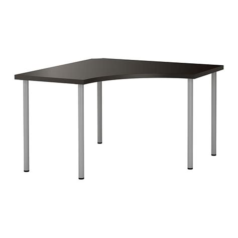 Ikea Desk Corner Top by Linnmon Adils Corner Table Black Brown Silver Colour
